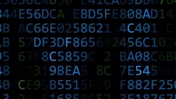 Hyundai Motor Company logo made of flashing hexadecimal symbols on computer screen. Editorial 3D rendering