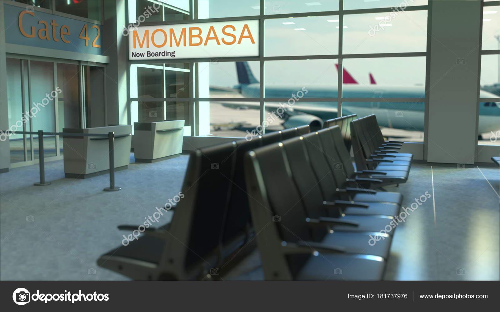 Aeroporto Kenya : Volo mombasa imbarco ora nel terminal dellaeroporto. viaggiare in