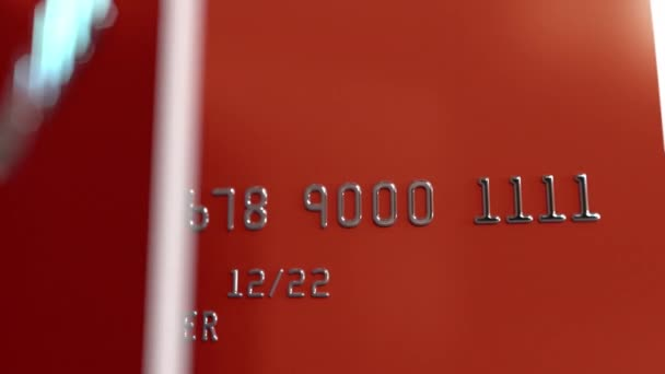 Close-up shot of turning red credit cards, loopable animation