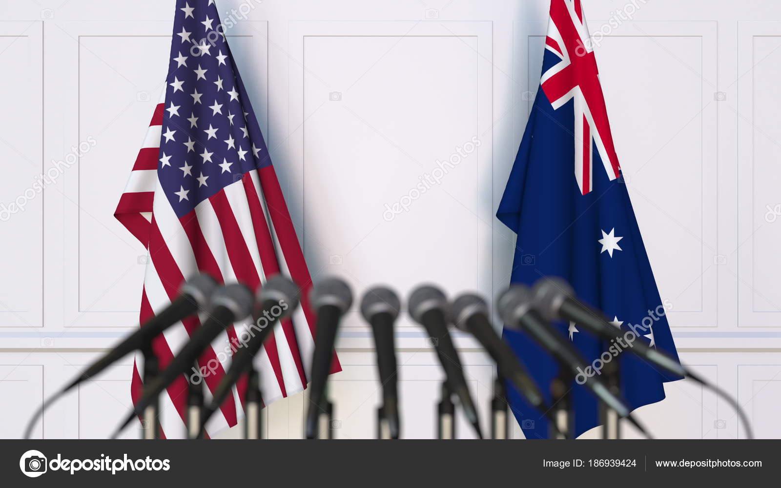 флаг сша и австралии фото гаражом