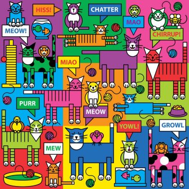 Colorful Cats and Critters