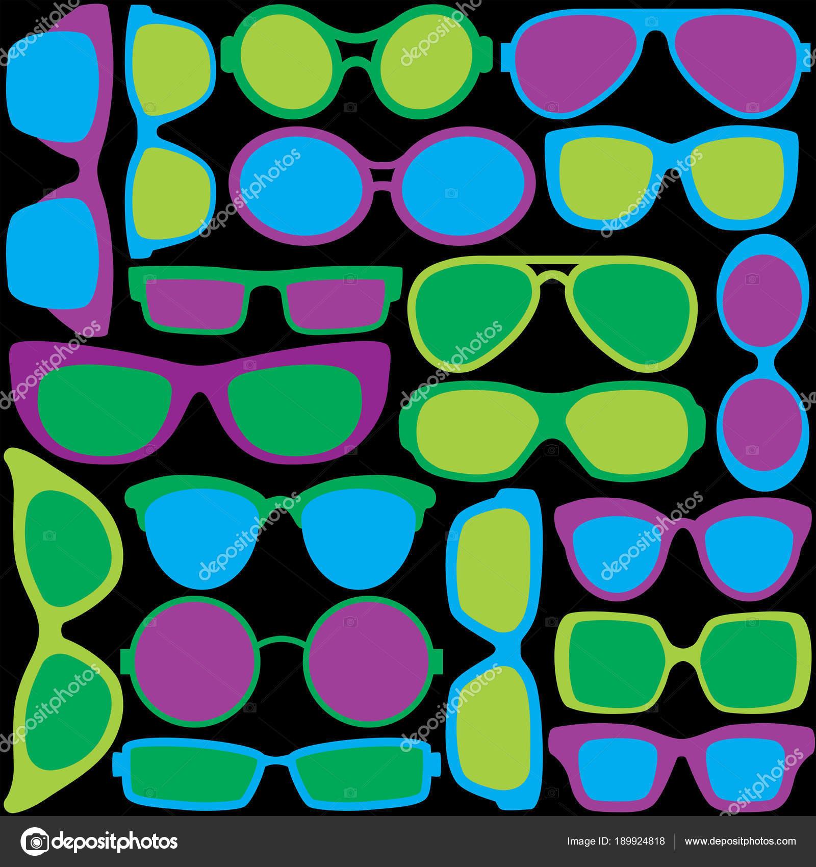Pattern Colorful Eyeglass Frames Cool Colors — Stock Vector © Lisann ...
