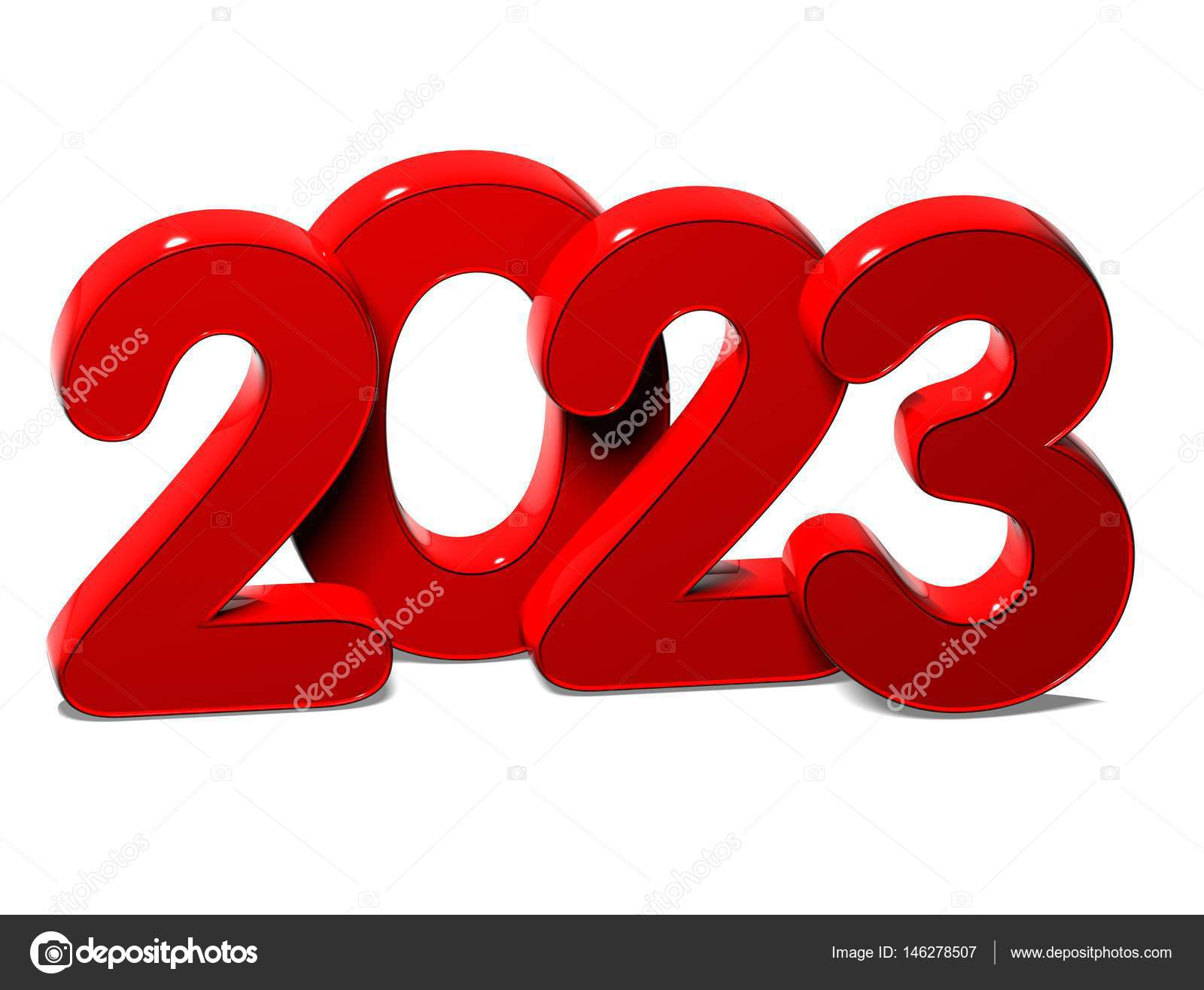 3D Red New Year 2023 on white background — Photo by  Curioso_Travel_Photography