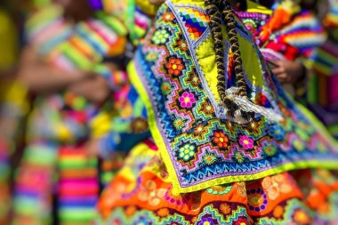 CUSCO - PERU - JUNE 06, 2016 : Peruvian dancers at the parade in
