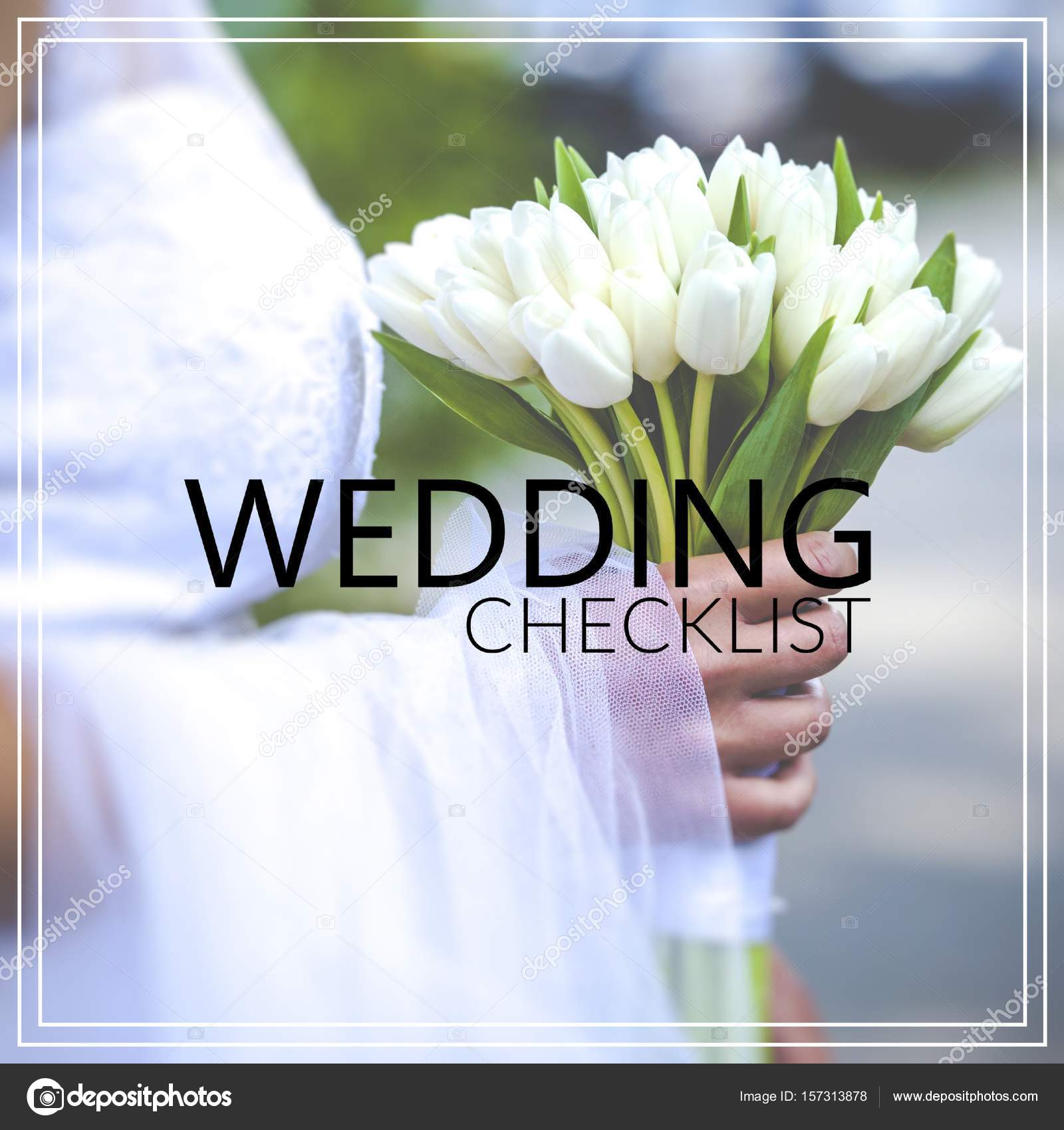 結婚式のチェックリスト bri の手で美しいウェディング ブーケ