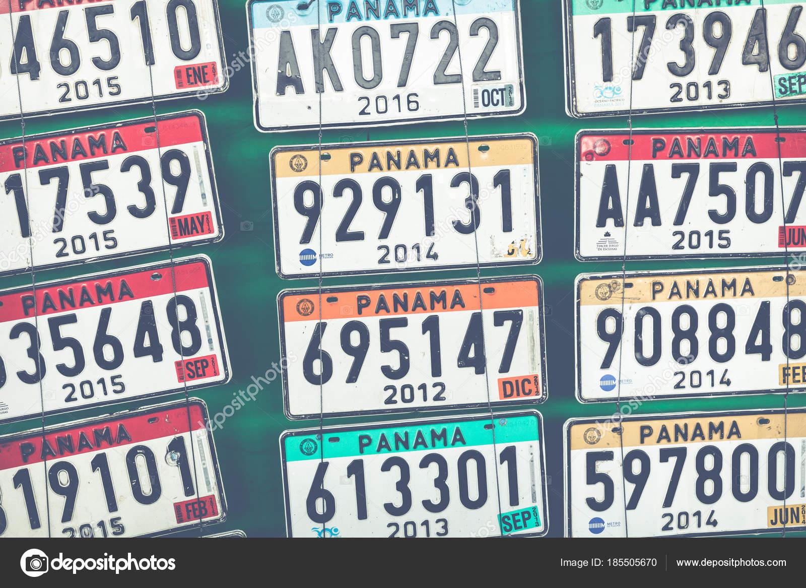 Panama vehicle registration plates. — Stock Photo ...