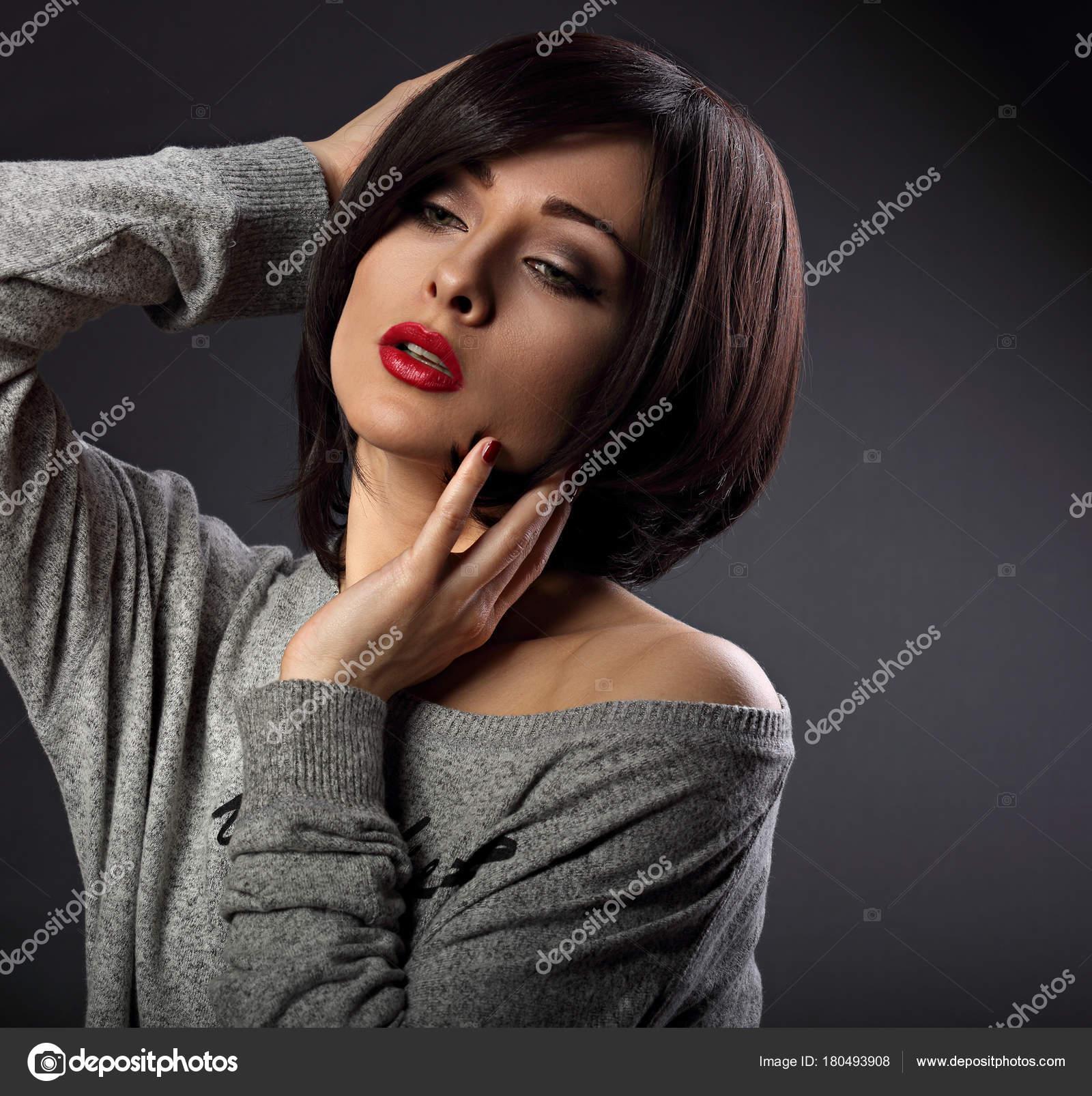 Девушка сексуальный макияж
