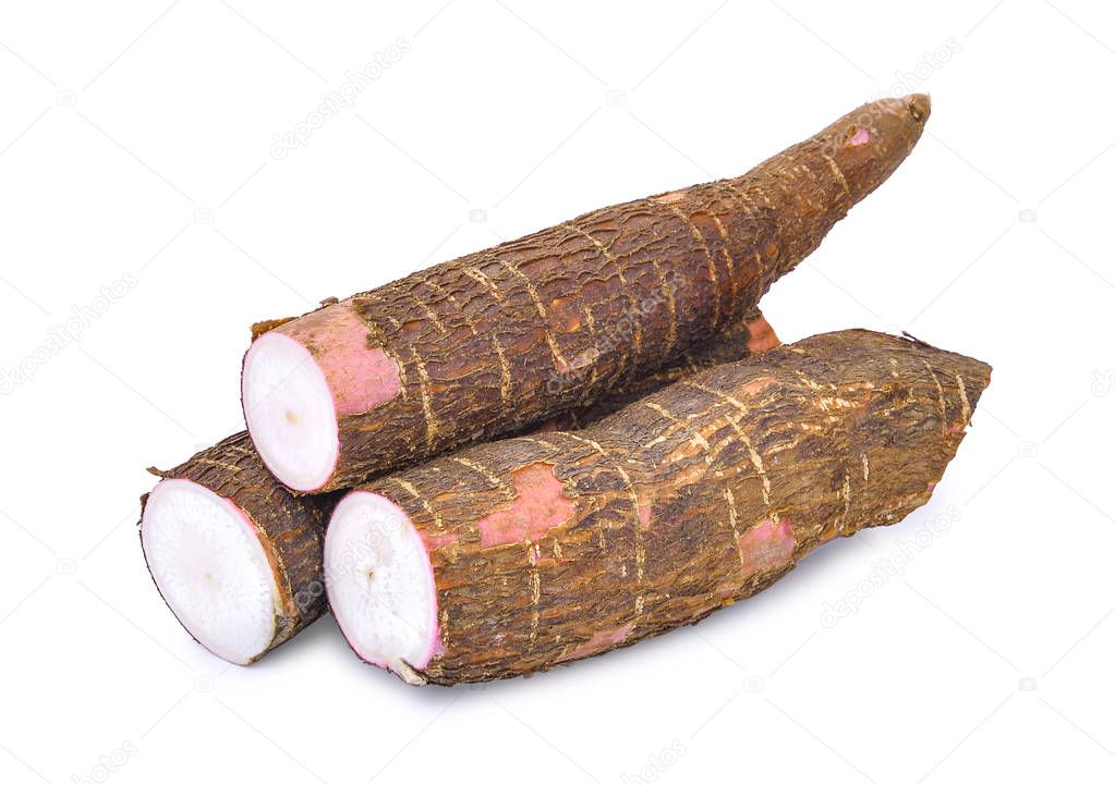 Cassava isolated on a white