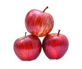 Fotografie frische Gala Äpfel isoliert auf weißem Hintergrund