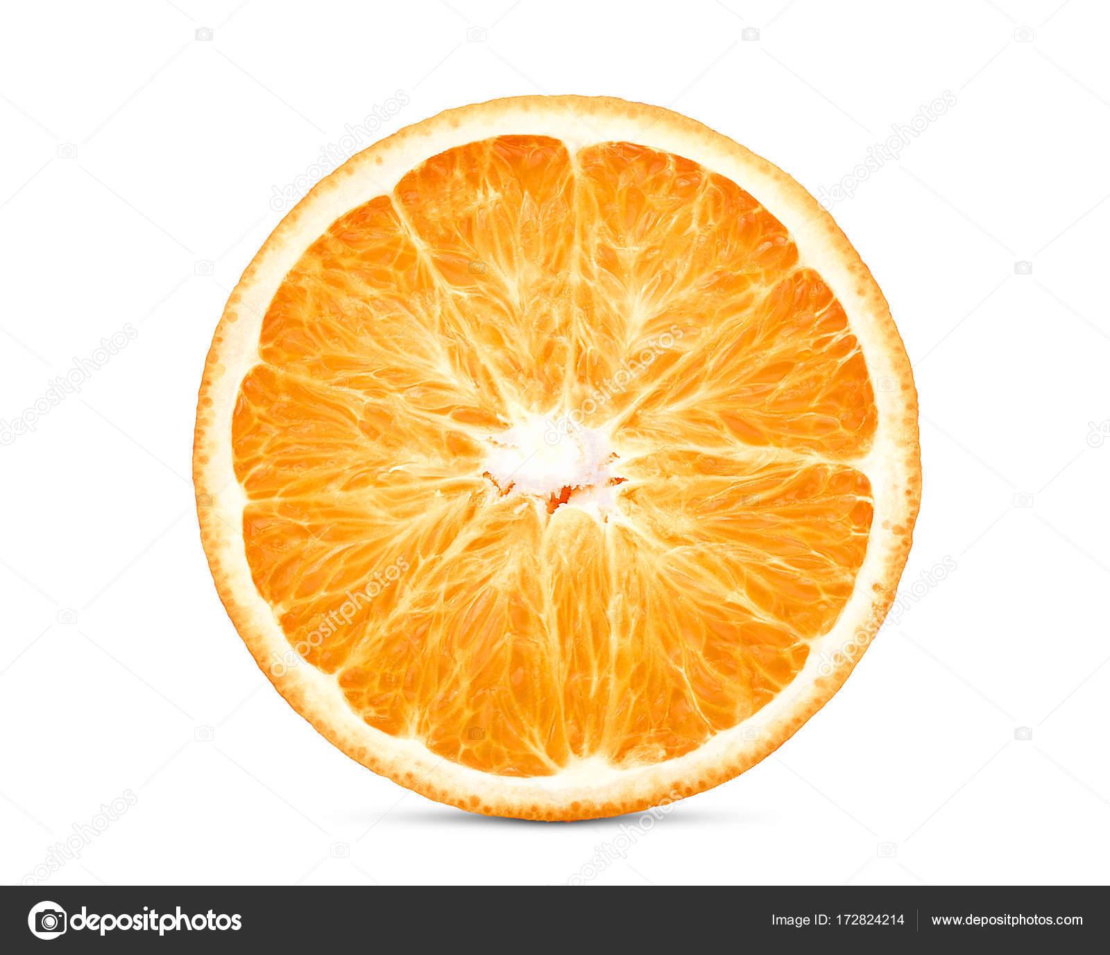 Close-up de meia laranja em fundo branco Baixar fotos