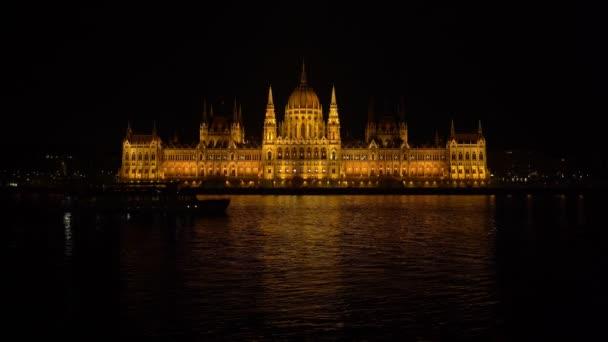 Magyar Országház éjjel, Budapest, Magyarország 4k