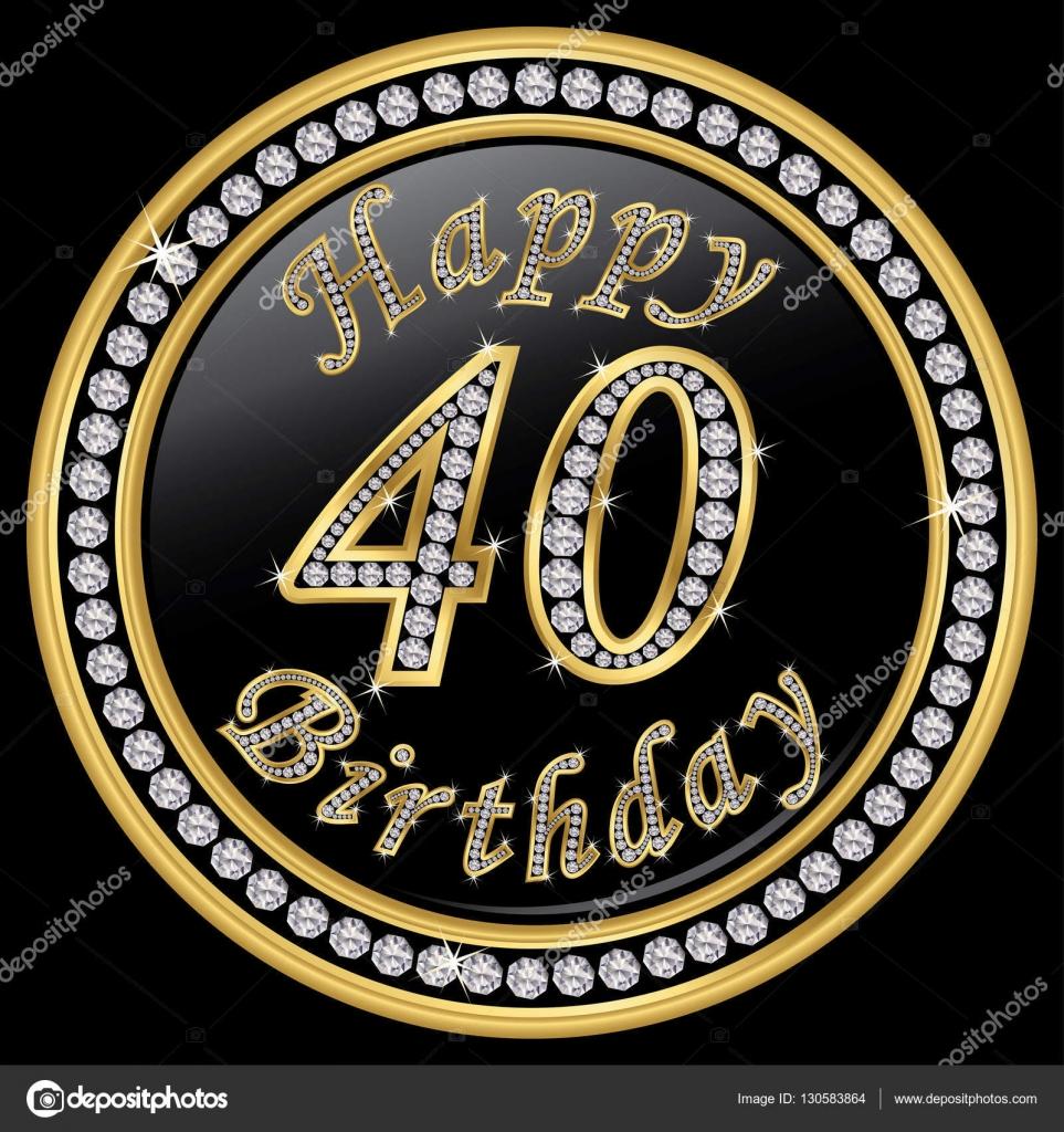 Imagenes De Cumpleanos Numero 40.Dibujos 40 Cumpleanos Feliz Cumpleanos Numero 40 De 40