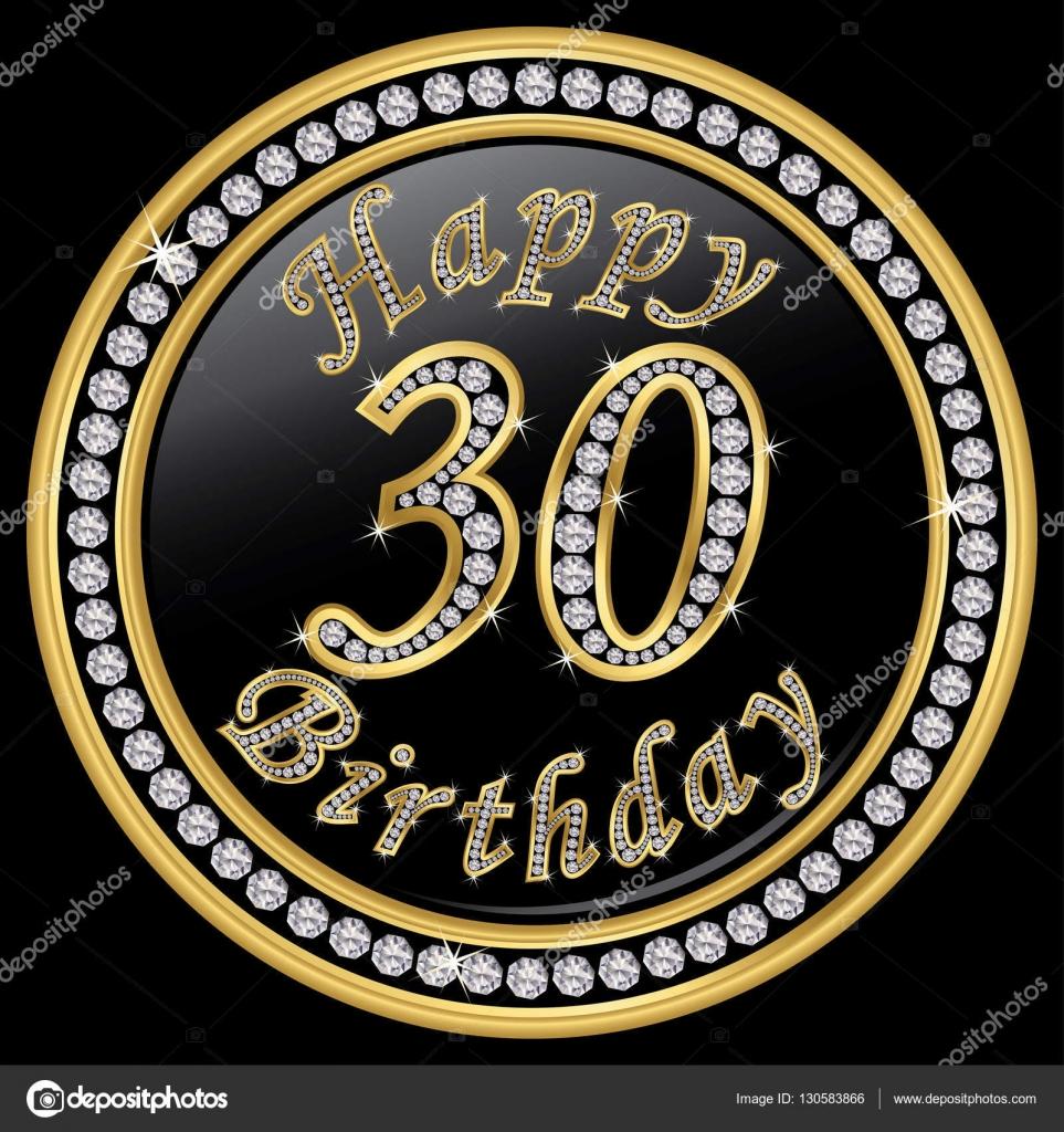 Happy 30 Geburtstag Alles Gute Zum Geburtstag 30 Jahre Golden Icon
