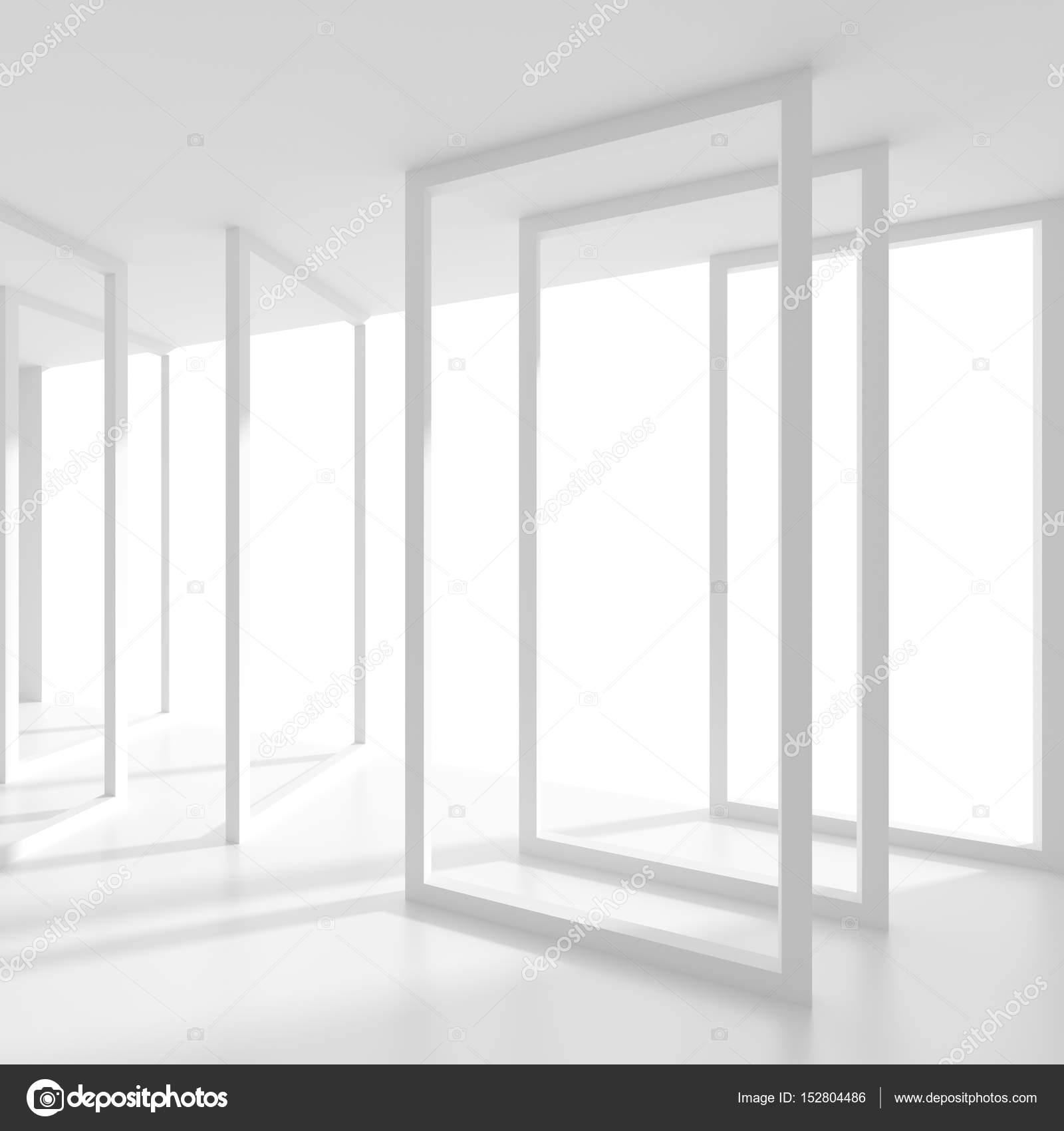 minimal office. Abstract Futuristic Architecture Background. Minimal Office Interior Design. Empty Room With Window. Geometric Shapes Structure \u2014 Photo By Maxkrasnov I