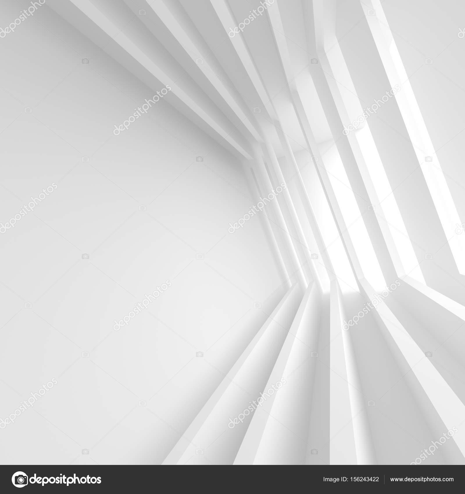 minimal office. White Building Construction. Minimal Office Interior Design \u2014 Stock Photo