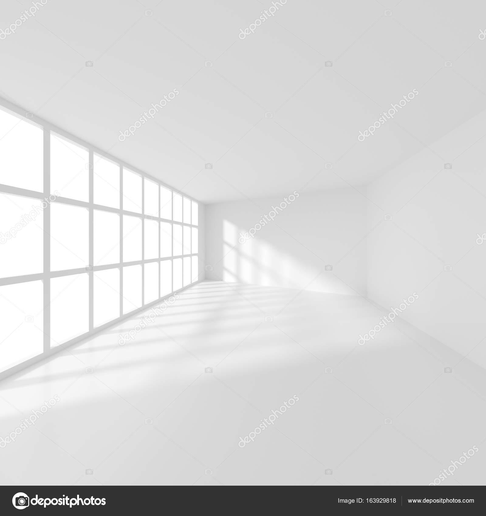 Weiße moderne Zimmer mit Fenster. Office Interior Design — Stockfoto ...