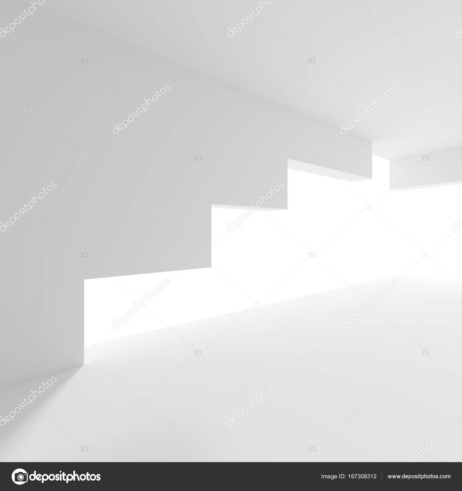 Modernes Gebäude Hintergrund. Weiß Minimal Innenarchitektur ...
