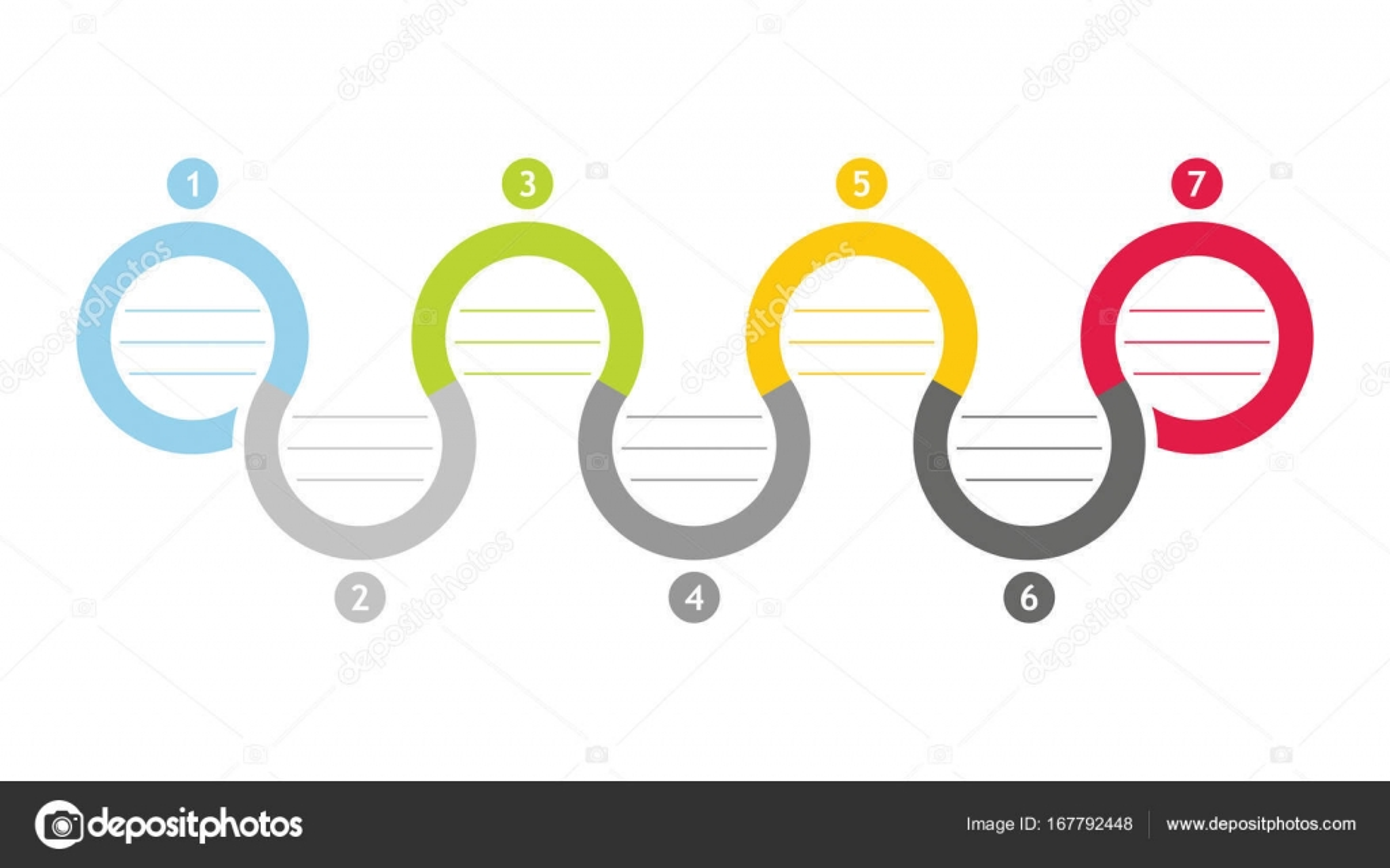 colorful flowchart template stock vector eltoro69 167792448