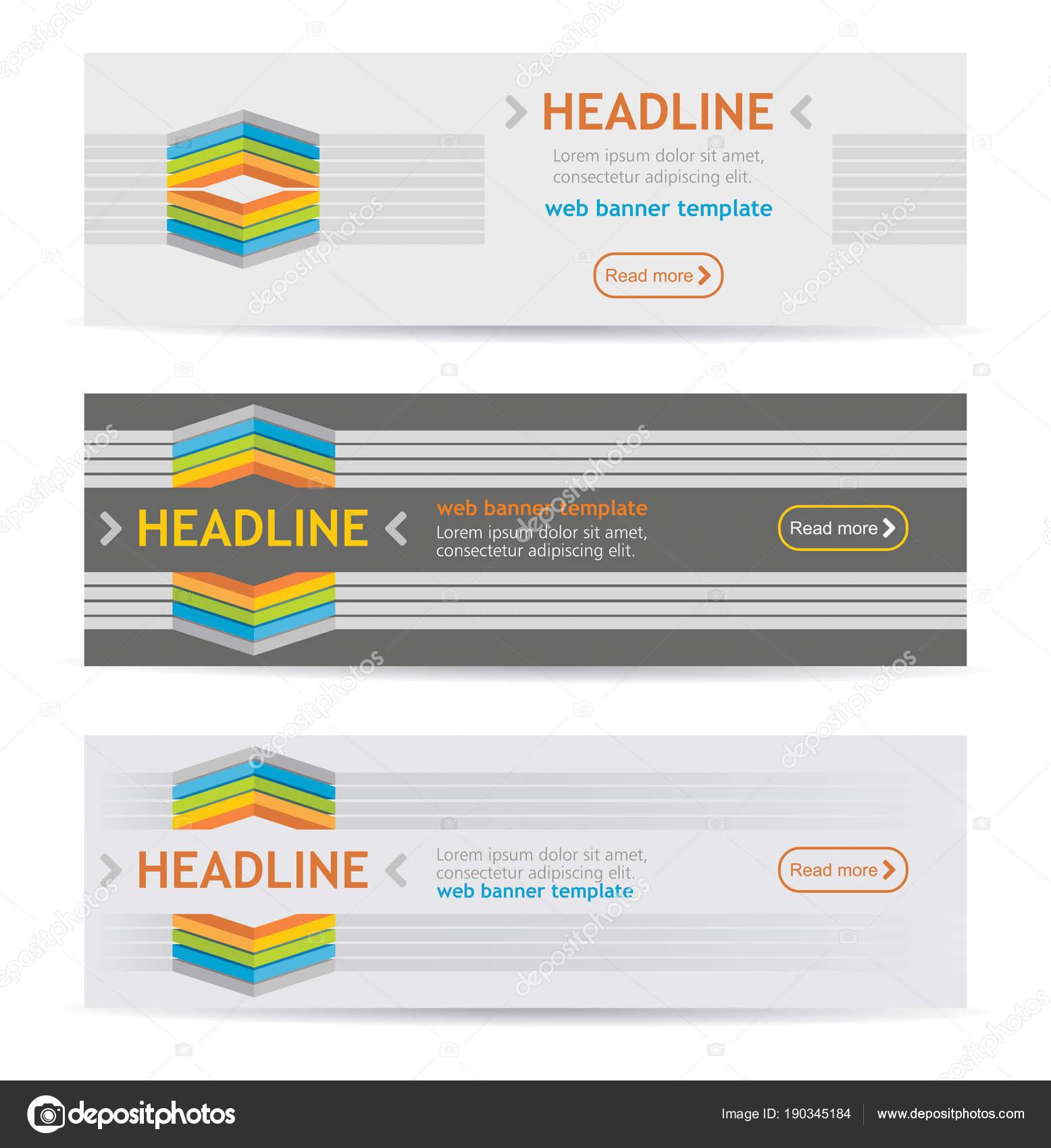 set website header templates vector illustration stock vector