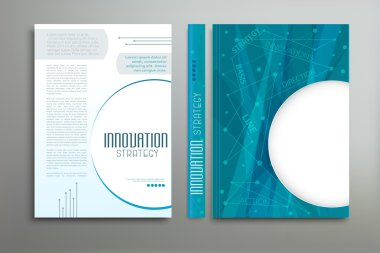 colored Brochure Flyer Layout