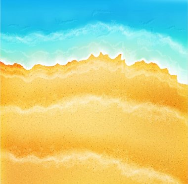background with sea sand and waves