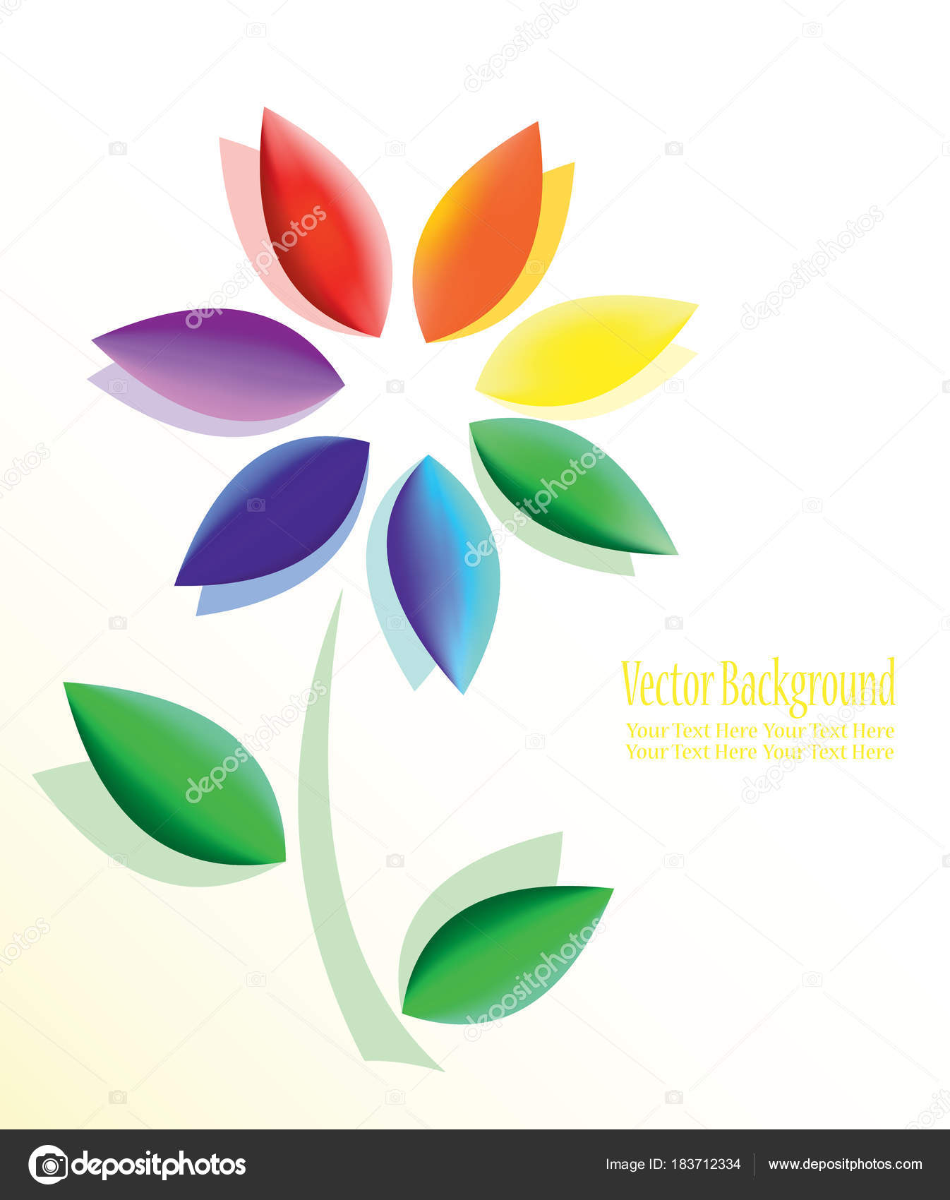 Abstract colorful flowers a symbol of purity peace love and a symbol of harmony purity peace love and happiness vector by sams57 biocorpaavc Image collections