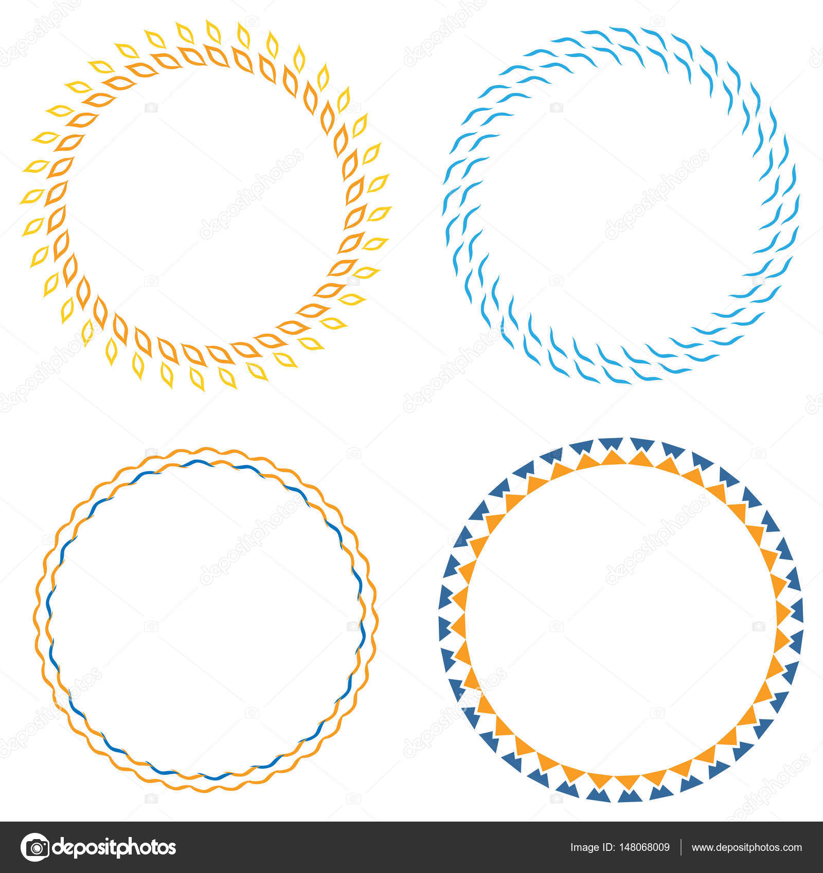 Kreis-Vorlage-Abzeichen — Stockvektor © kornetka #148068009