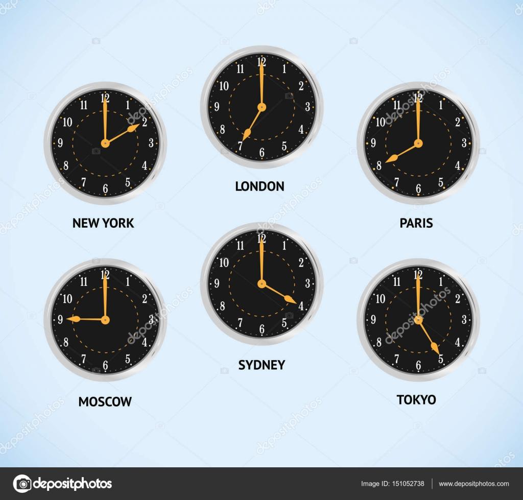 44ef9687694 Fusos horários mundial — Vetores de Stock © kornetka  151052738