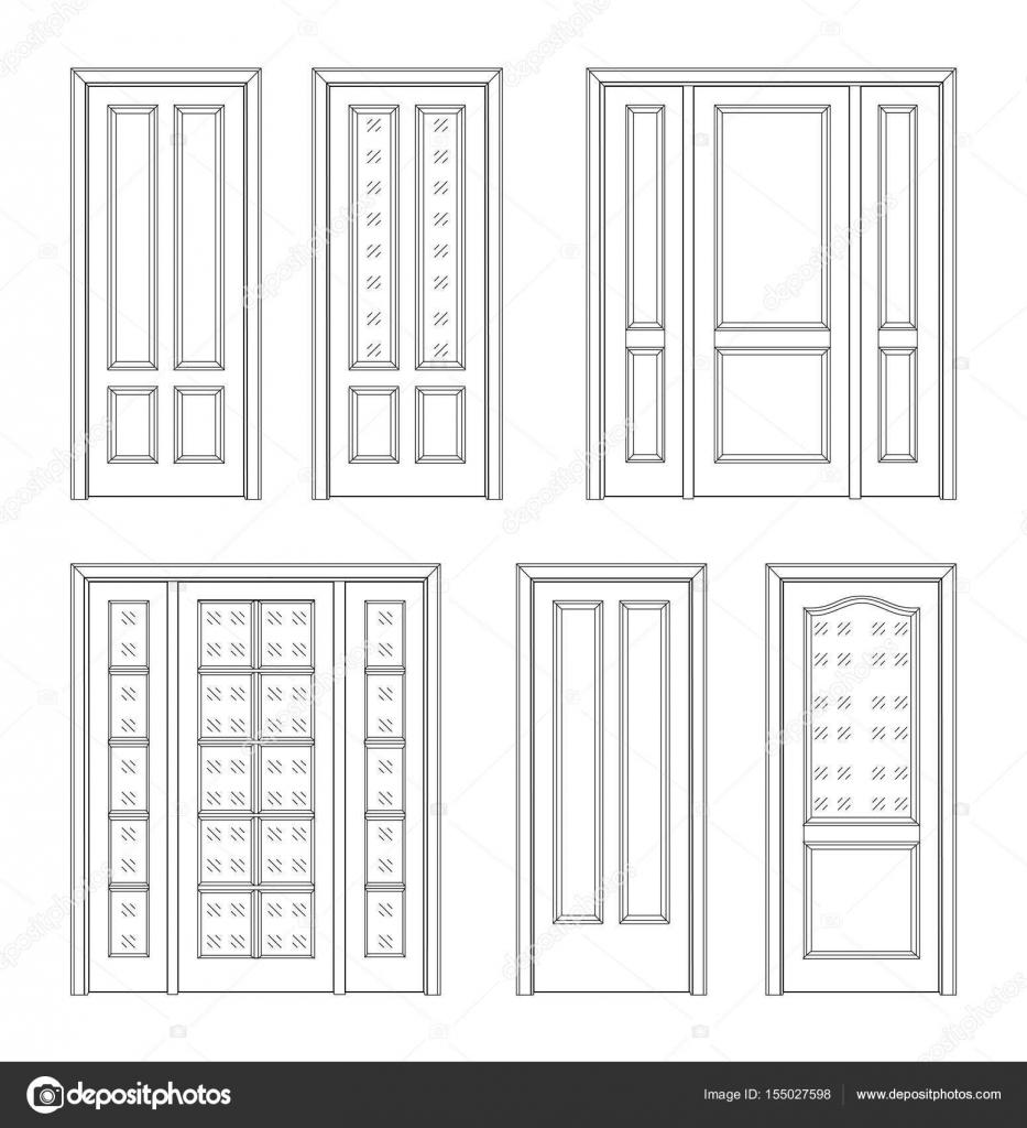 Puerta dibujo t cnico vector de stock kornetka 155027598 - Dibujos de puertas ...