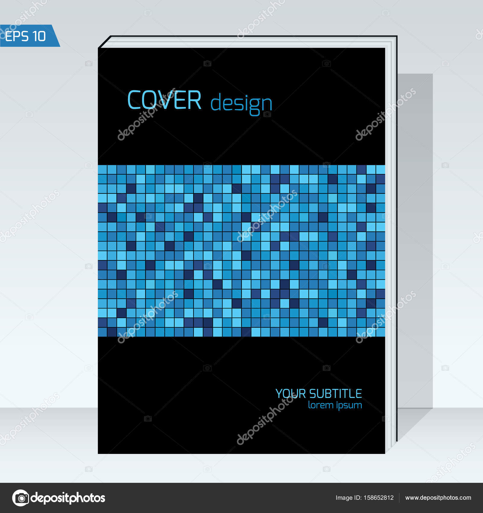 Schwarzen Geometriekonstruktion Cover Broschüre. Vektor Vorlage ...