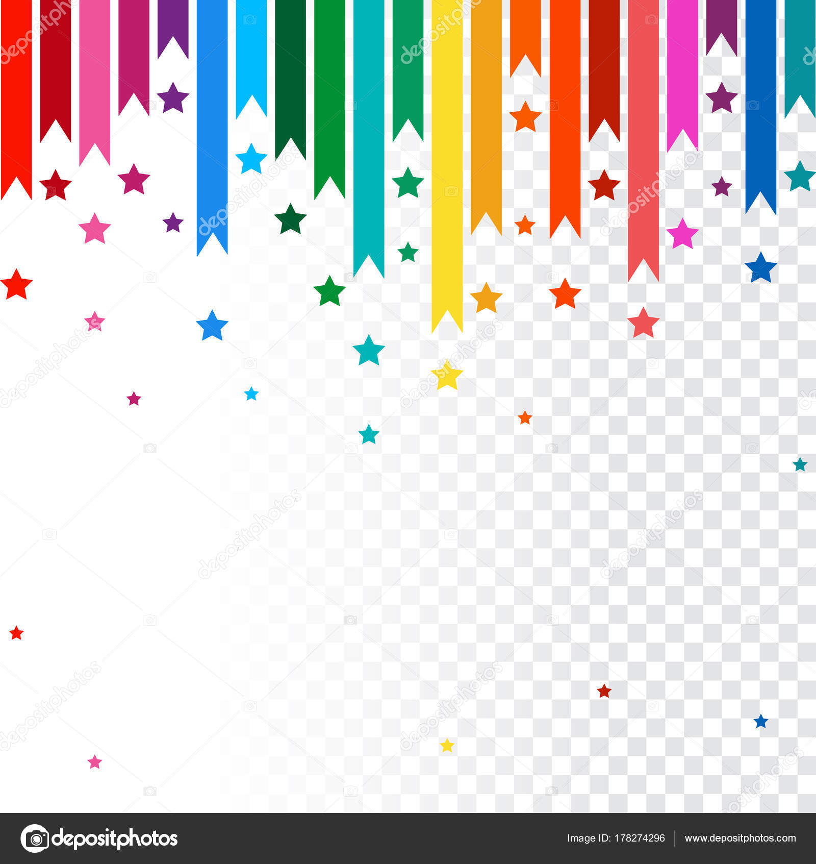Abstract Vector Background Colorful Rainbow Line Stock