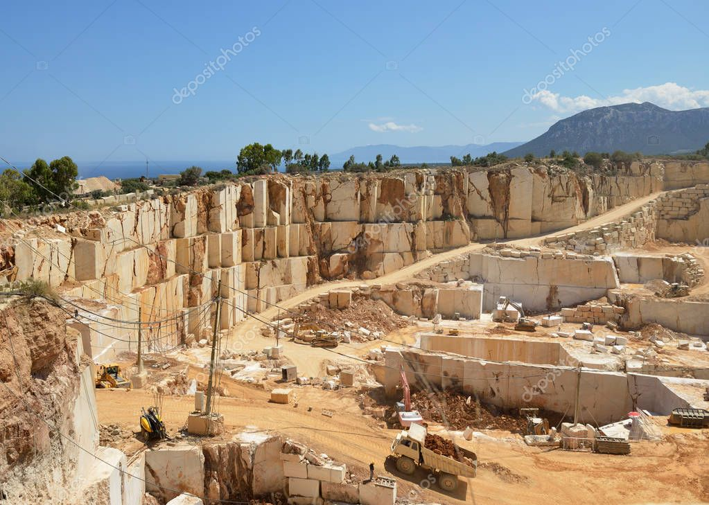 landscape of Marble quarry