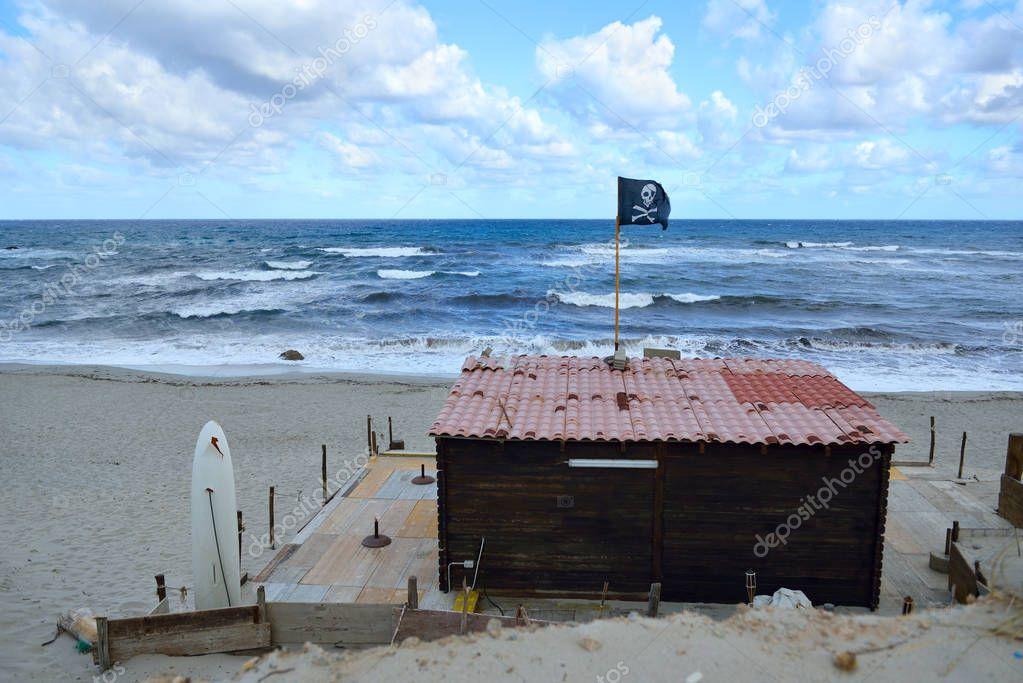 Beach surf house