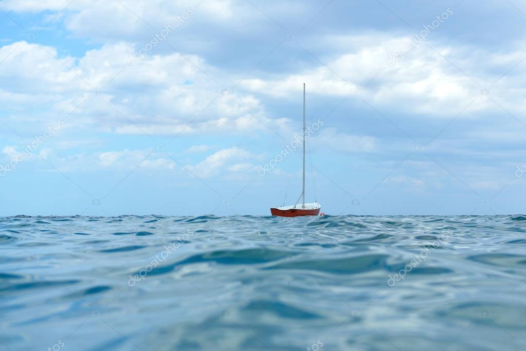 boat in water sea