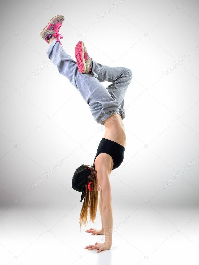 Teen Girl Hip Hop Dancer Stock Photo C Khorzhevska 129368538