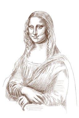 Sketch of Mona Lisa