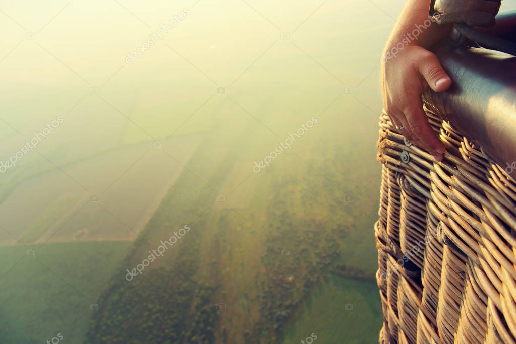 view from height of balloon