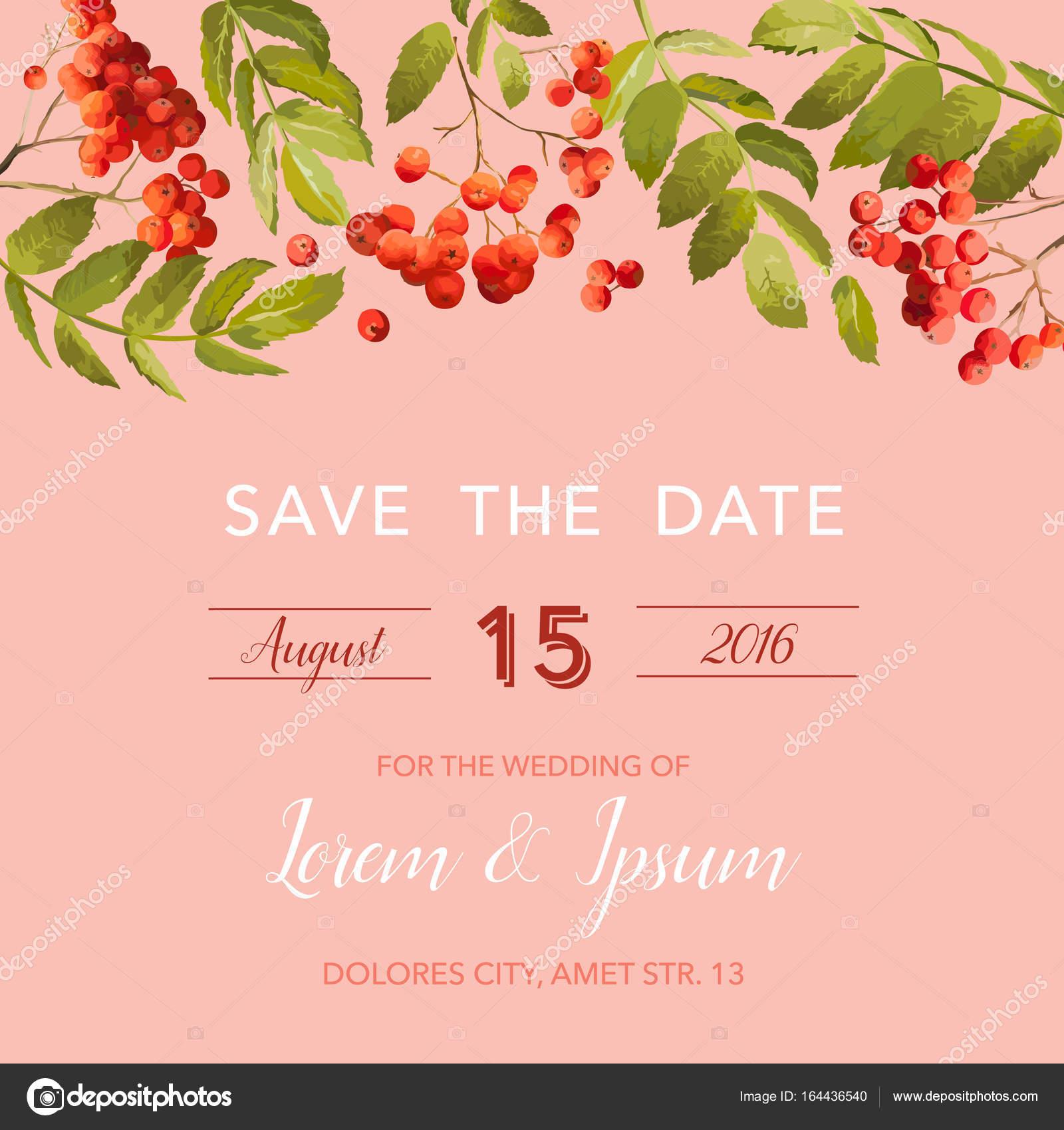 Hochzeit Einladung Vorlage Floral Speichern Die Datum Karte Mit