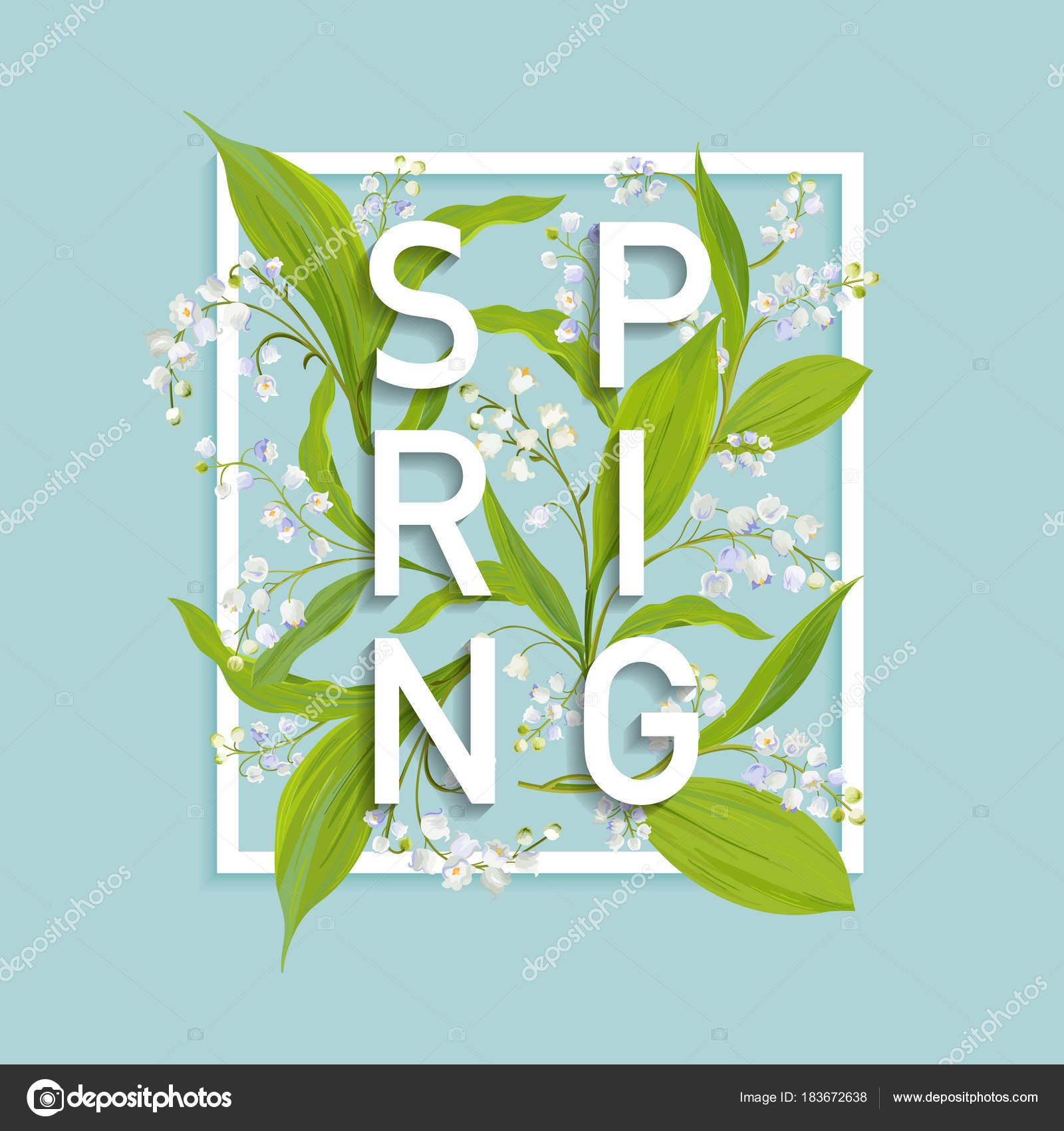 Floral spring design template for card sale banner poster placard floral spring design template for card sale banner poster placard cover t shirt print background with lily flowers vector illustration vector by izmirmasajfo Image collections