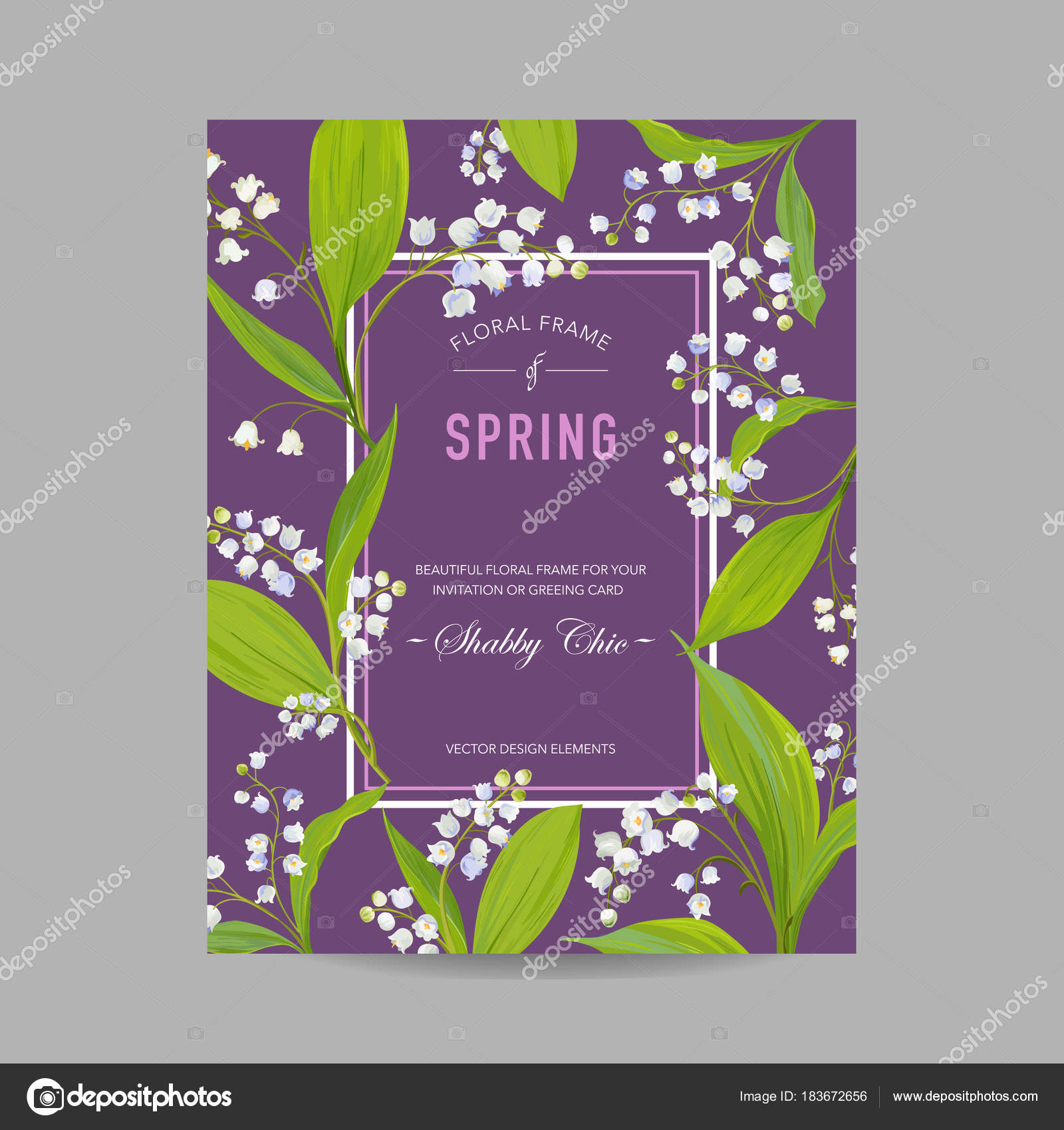 Floral spring design template for wedding invitation greeting card floral spring design template for wedding invitation greeting card sale banner poster placard cover background with lily flowers izmirmasajfo Image collections