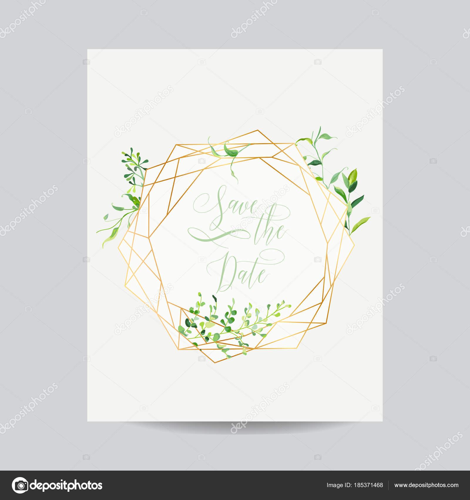 Plantilla Floral de la invitación de boda. Guarde el marco de la ...