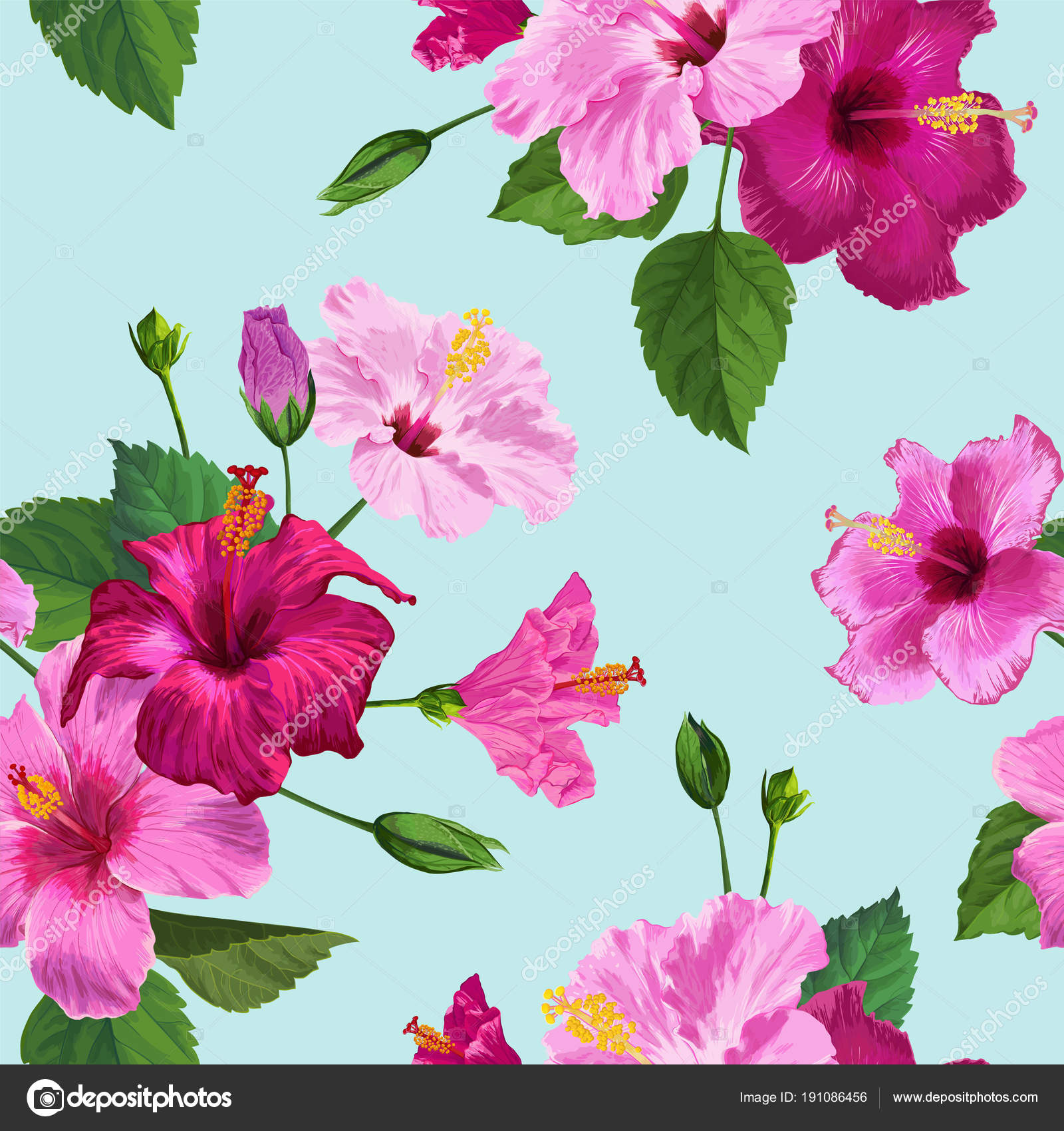 Tropical purple hibiscus flower seamless pattern floral summer tropical purple hibiscus flower seamless pattern floral summer background for fabric textile wallpaper izmirmasajfo