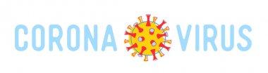 Coronavirus Poster with Cov Dangerous Cell and Typography. Medical Banner, Header for Website, Flyer or Brochure Infographics. Chinese Epidemic Virus Disease Cartoon Flat Vector Illustration, Line Art