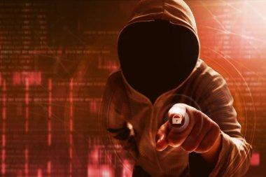 Hacker unlock data on computer