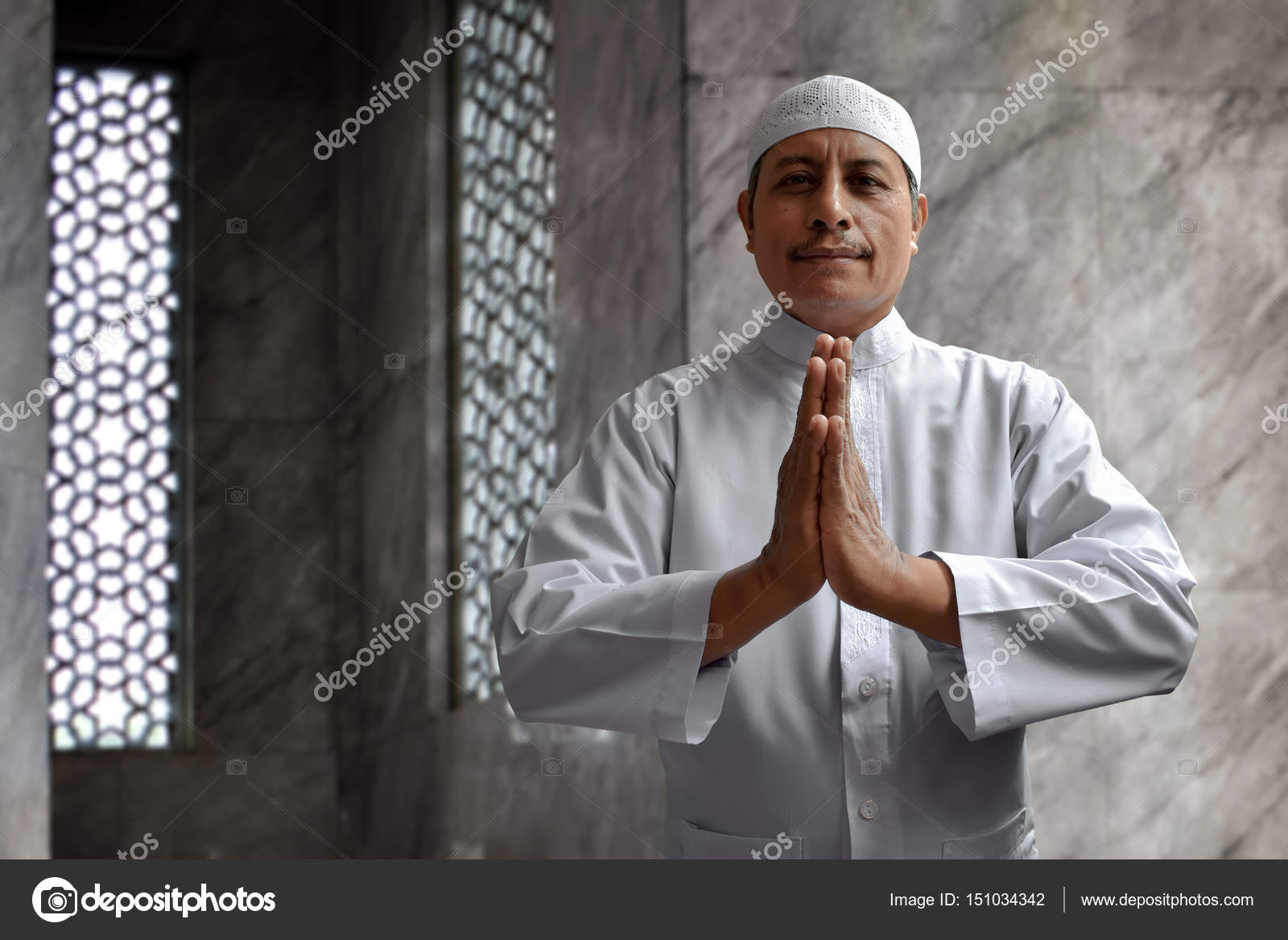 Old Muslim Man Smiling Stock Photo Fotokitas 151034342