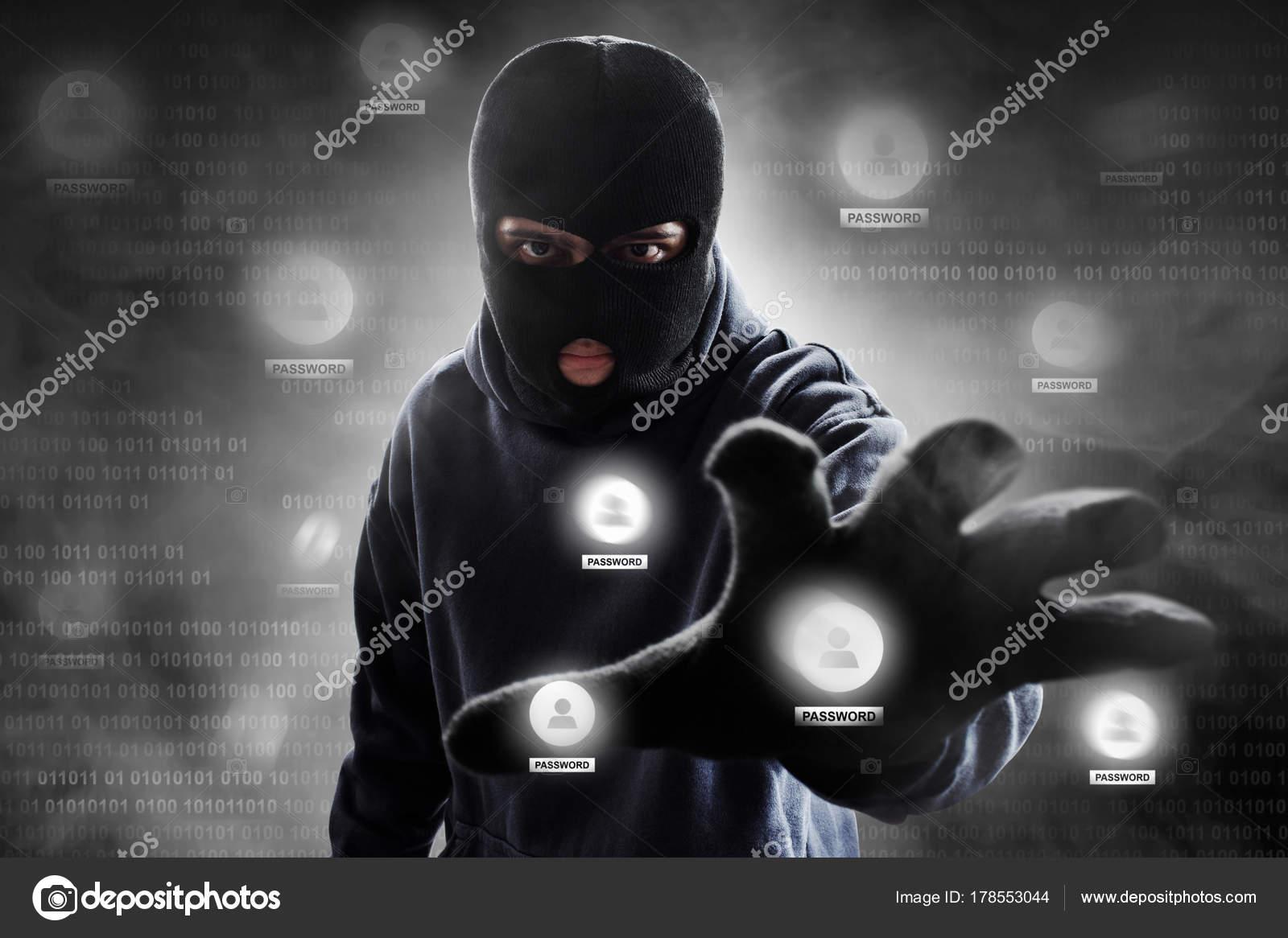Hacker Wearing Mask Stock Photo C Fotokitas 178553044