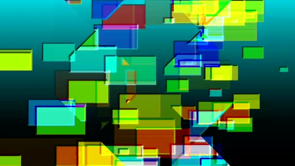 dance of colored rectangles on the screen