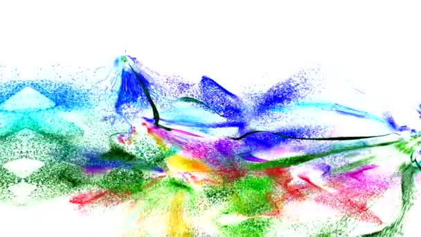 a képernyőn a színes minták tánc