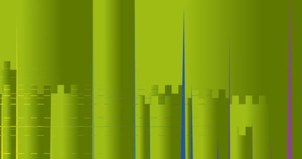 Geometrické barevné obrázky na obrazovce
