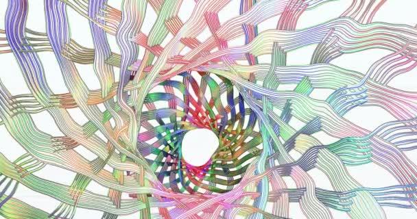 Egy hullámos színes kép mozgást hoz létre a képernyőn